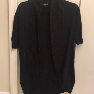 Express, black, short-sleeve lightweight cardigan
